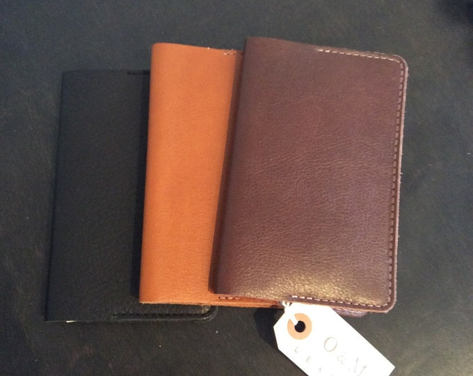 Leather small field notebook cover