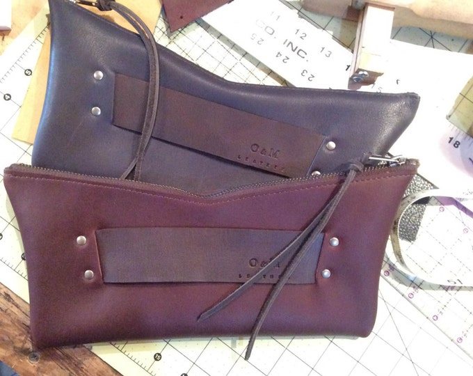Leather Retro Clutch