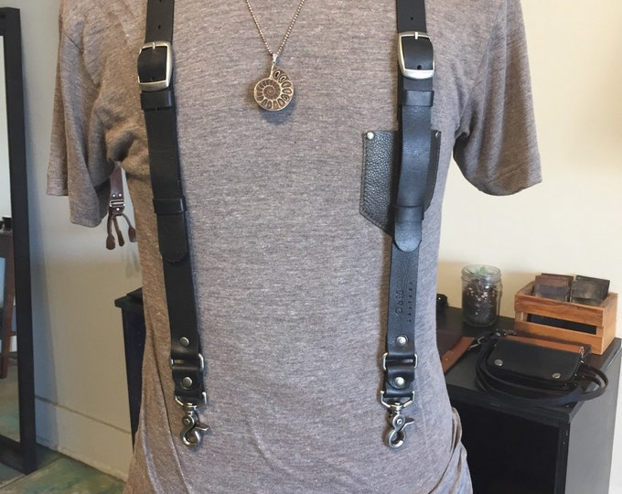 Skinny Leather Suspenders