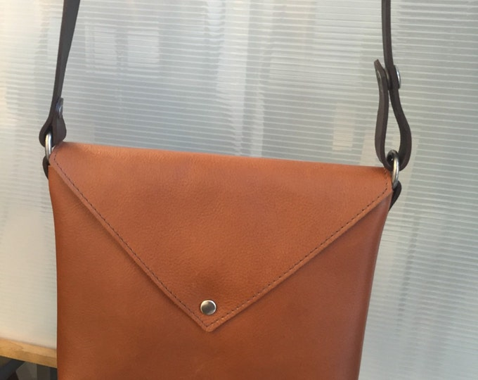 Small Leather Criss Body Envelope Bag