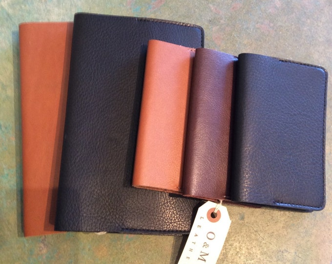 Leather large field notebook cover