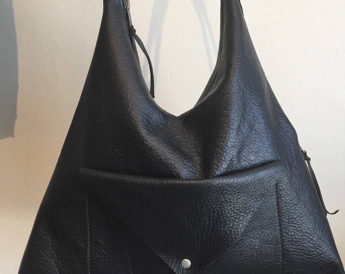 Leather V Shape Shoulder Bag