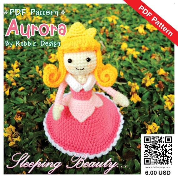 Aurora Mermaid amigurumi pattern - printable PDF – Amigurumi Today ... | 570x570