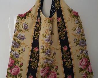 French Vintage Cotton Happy Shopper Bag
