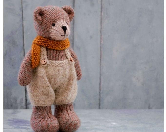 "New! Little TEAROOM Bears 8""/ Toy Knitting Pattern/ 'back & forth'/ Knitted Animal Pattern/ 20cm Teddy Bear Knitting/ Bear Cub"