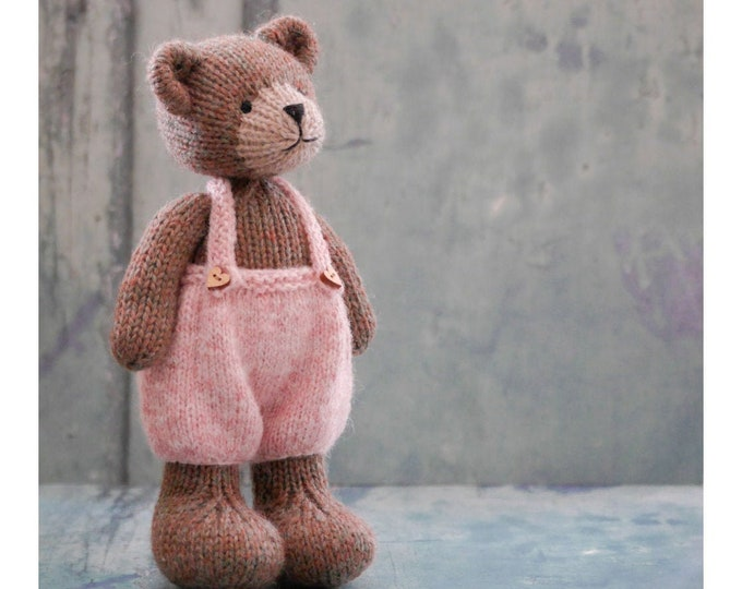 "New! TEAROOM Mini Bears 8""/ Toy Knitting Pattern/ Animal Knitting/ In the round/ 20cm Teddy Bear/ Bear Cub"