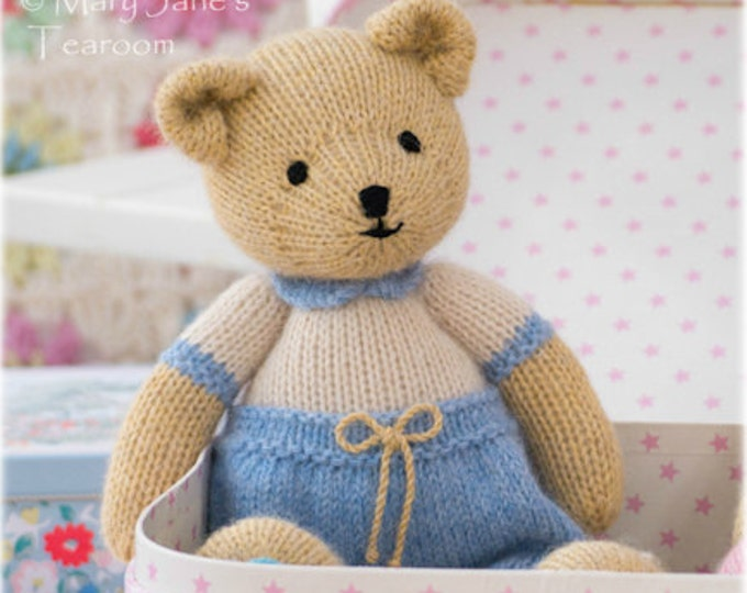 Boy Bear Toy Knitting Pattern/ Knitted Boy Teddy Bear/ Method 1/ Small Bear
