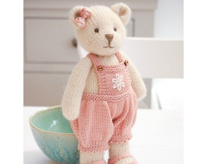 "NEW! CANDY Bear 11""/ In the round/ Seamless/ Toy Knitting Pattern/ Teddy Bear/ Medium"
