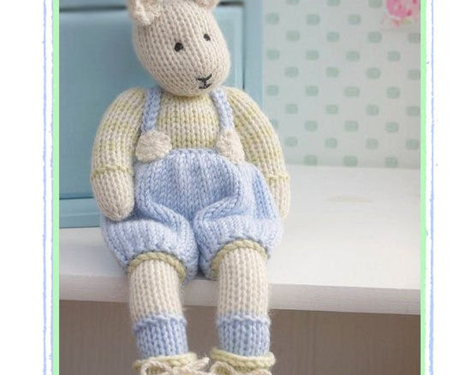 SAMUEL ... A Spring baby Bunny/ Pdf TOY Knitting Pattern / Rabbit Knitting Pattern/ INSTANT Download