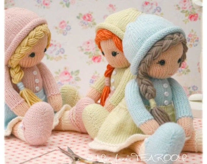 Little Yarn Dolls: Method 2/ Doll Knitting Pattern / Toy Knitting Pattern/ Knitted Dolls/