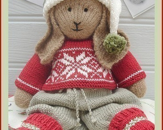 BO Rabbit / Bunny Toy Knitting Pattern / Lapland Visitors Part 1 / Plus Free Handmade Shoes Knitting Pattern