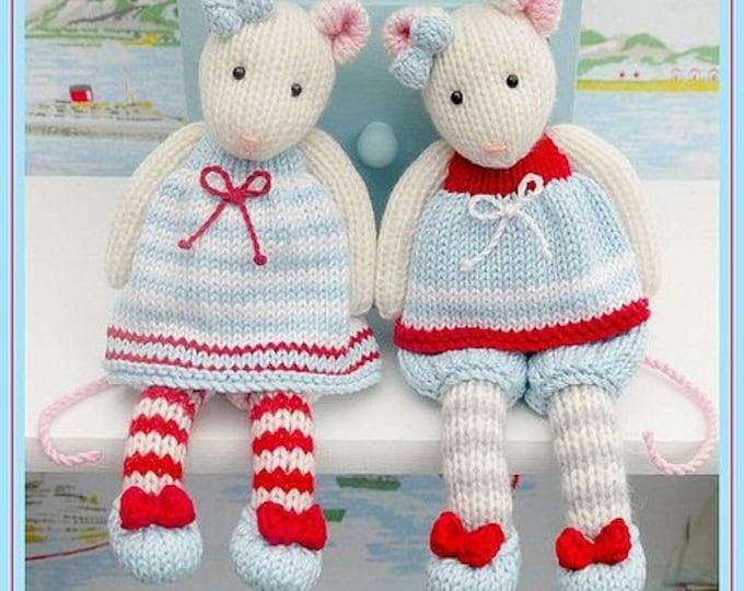 2 TEAROOM Mice Toy Knitting Pattern/ MJT Mouse Knitting Pattern
