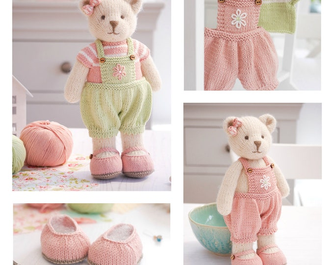 "NEW! CANDY Bear 11"" /Seamed/ Back & Forth/ Toy Knitting Pattern/ Teddy Bear/ Medium"