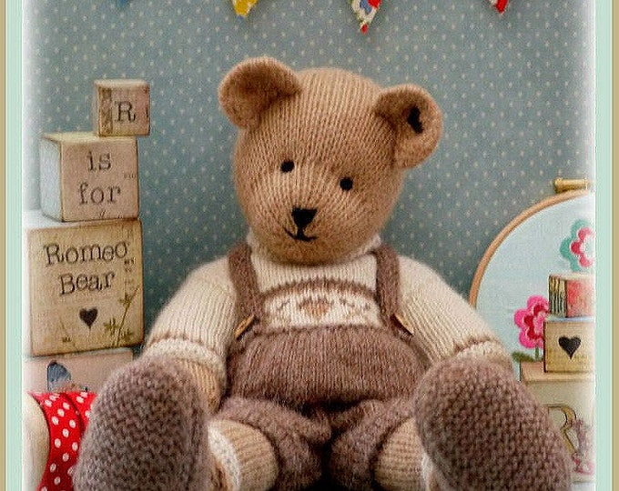 ROMEO Bear / Teddy Bear Toy Knitting Pattern/ Plus Free Handmade Shoes Knitting Pattern