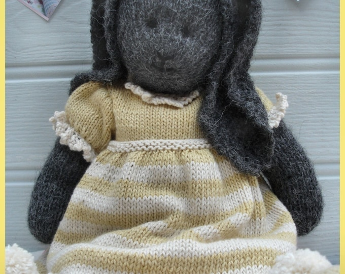 DAISY Rabbit / Toy Bunny Knitting Pattern/ Plus FREE Handmade Shoes Knitting Pattern