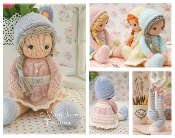 Little Yarn Dolls Method 2 Pdf Doll Knitting Pattern Toy Etsy
