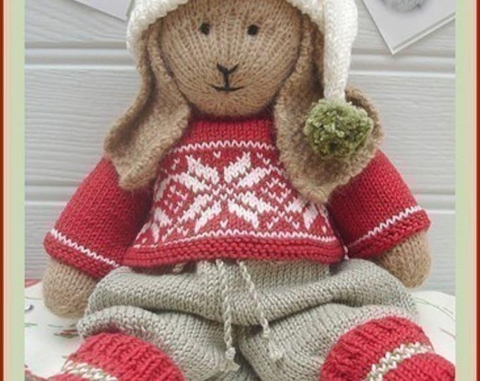 BO Rabbit / Bunny Toy Knitting Pattern / Lapland Visitors Part 1 / Plus Free Handmade Shoes Knitting Pattern