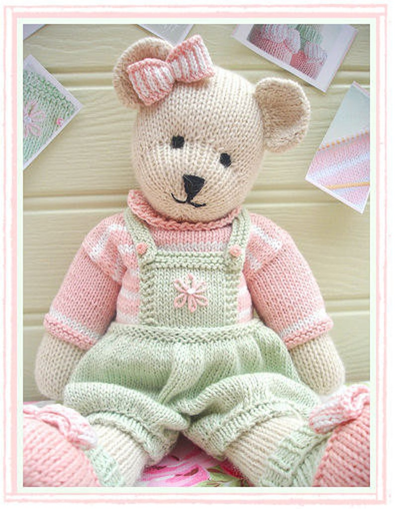 781e8c83e28a96 CANDY Bear  Toy  Teddy Bear Knitting Pattern  PDF  Plus Free