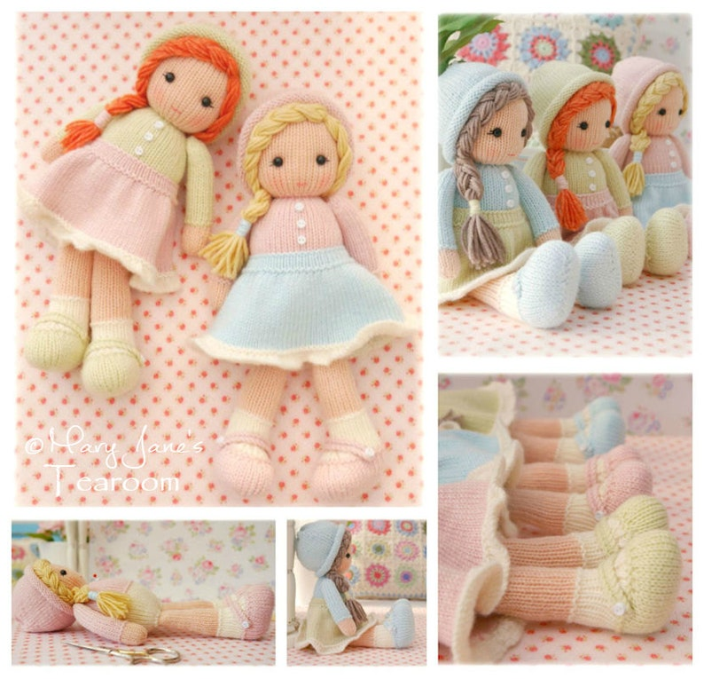 Little Yarn Dolls / PDF Doll Knitting Pattern/ Method 1/ image 0
