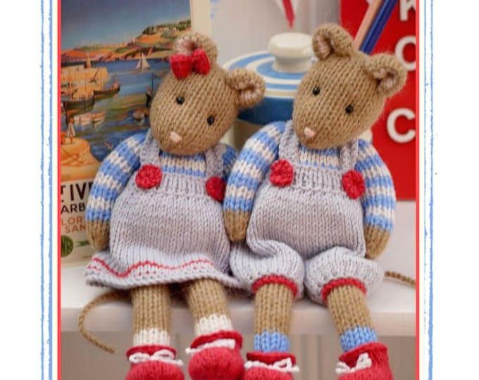 2 'CORNISH Mice' knitting pattern / Toy Knitting Pattern/ Mouse