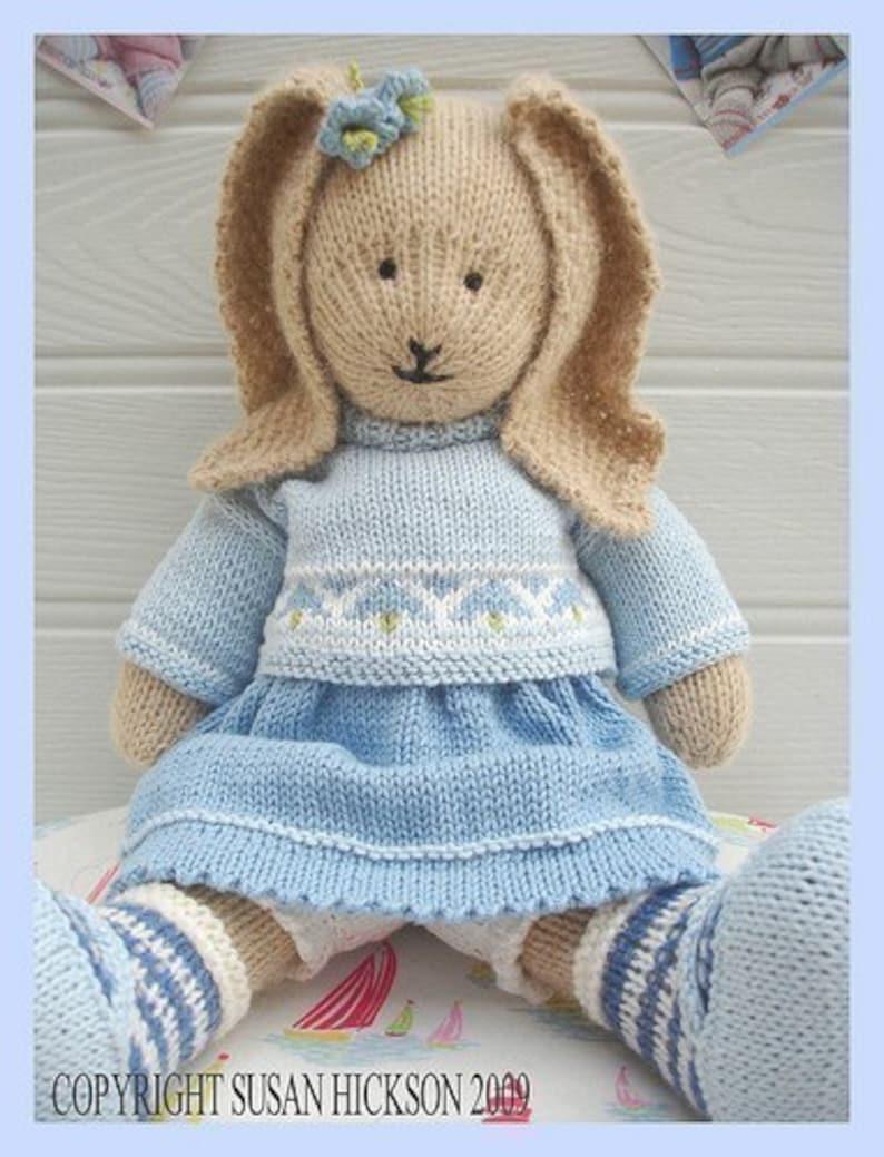 6e636b49f BLUEBELL Rabbit  PDF Toy Knitting Pattern  Bunny Rabbit  Plus