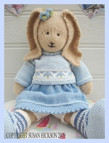 Bluebell Rabbit Pdf Toy Knitting Pattern Bunny Rabbit Plus Free