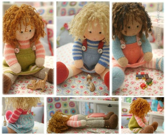 Dolls From The Tearoom Doll Toy Knitting Patterns 4 Etsy