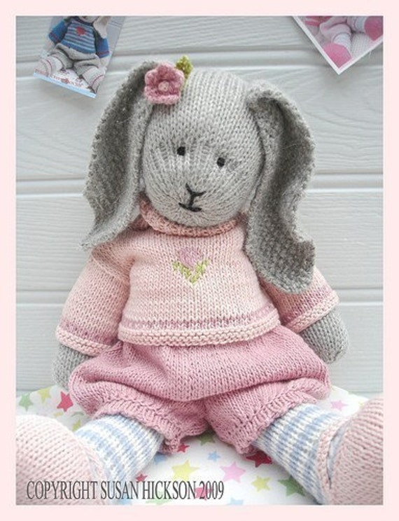 Bunny Knitting Pattern Toy Knitting Pattern Primrose Rabbit Etsy
