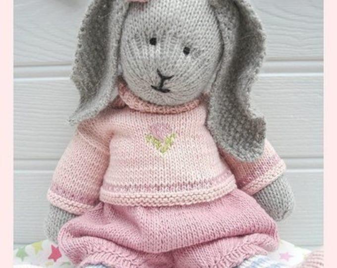 Bunny Knitting Pattern/ Toy Knitting Pattern/ PRIMROSE Rabbit/ Plus Free 'Handmade Shoes' Knitting Pattern