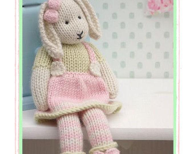 LILY.... A Spring Baby Bunny  / Toy Knitting Pattern/ Rabbit Knitting Pattern