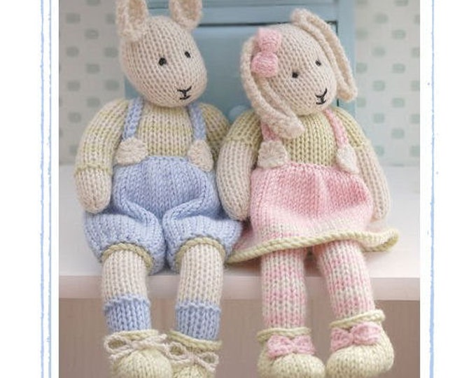 2 Knitting Pattern Deal/ LILY & SAMUEL...Spring Baby Bunnies/ Rabbits/ Toy Knitting Patterns