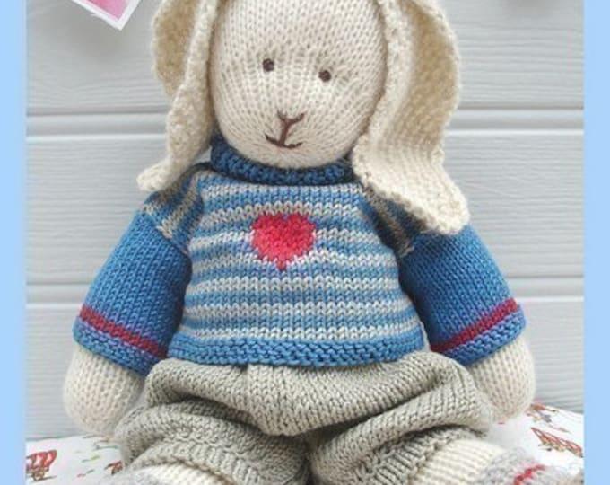 OSCAR RABBIT / Bunny Toy Knitting Pattern/ Plus Free Handmade Shoes Knitting Pattern