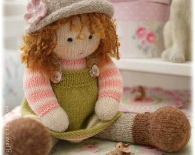 Tearoom Doll Hats/ Toy Knitting Pattern/ Hat variations/ in the round/ back & forth/