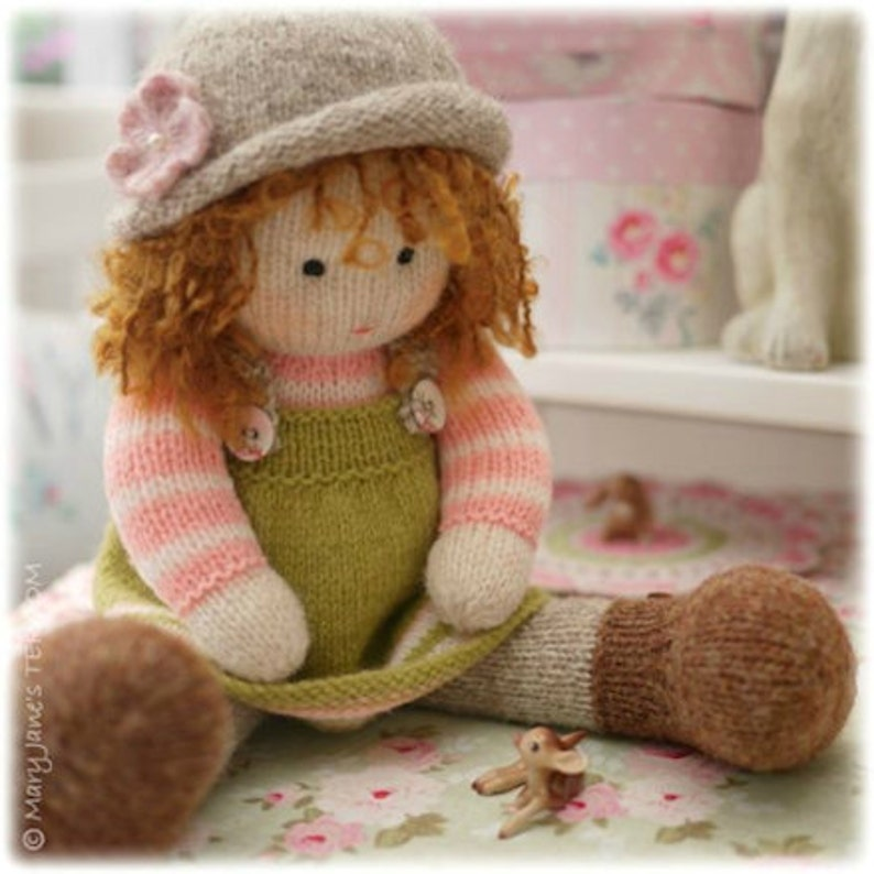 Tearoom Doll Hats/ PDF Toy Knitting Pattern / Hat variations/ image 0