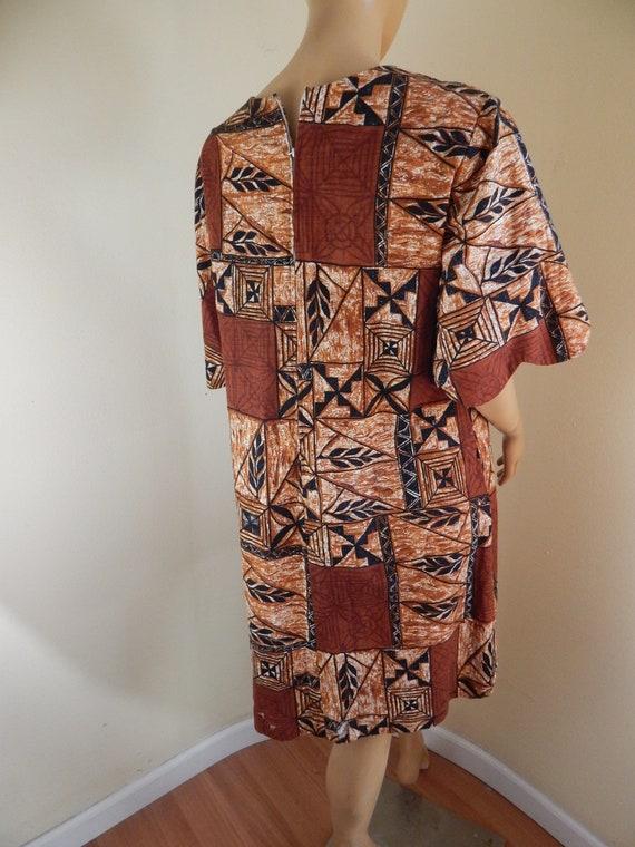 Vintage Hawaiian muumuu, tapa cloth, tahitian muu… - image 7