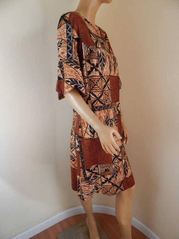 Vintage Hawaiian muumuu, tapa cloth, tahitian muu… - image 2
