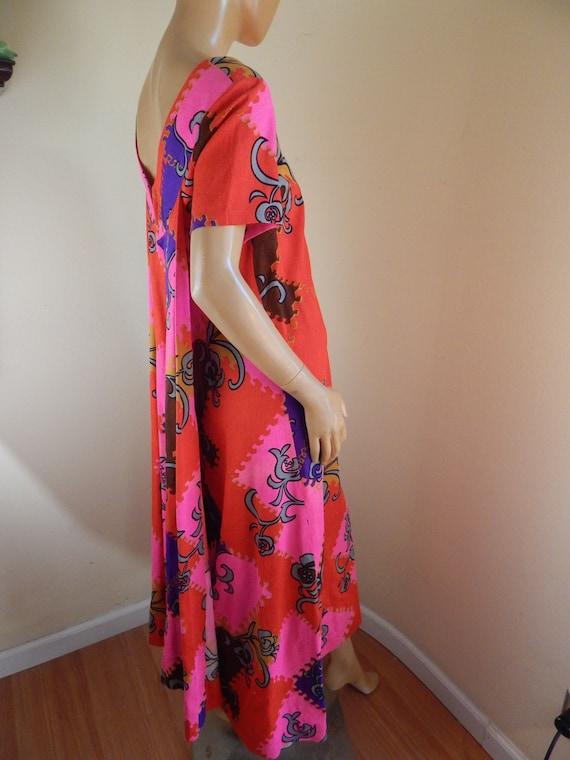 Vintage hawaiian dress, cotton hawaiian dress, ba… - image 5