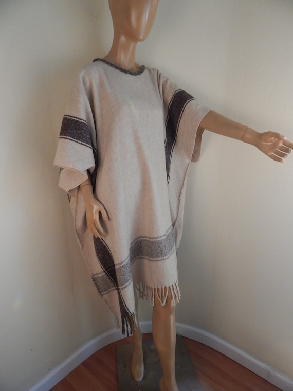 wool poncho, mexican poncho, western, boho, south