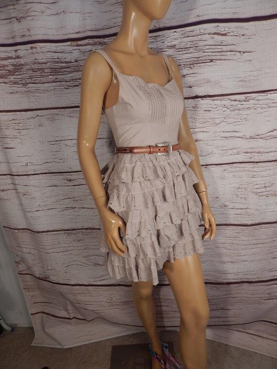 vintage Guess ruffle dress, western dress, vintage