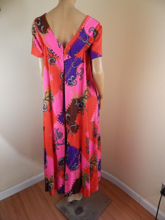 Vintage hawaiian dress, cotton hawaiian dress, ba… - image 1