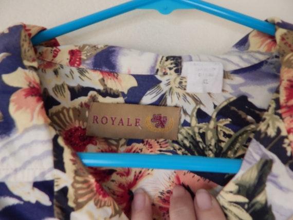Mens Hawaiian shirt, mens rayon aloha shirt, volc… - image 2