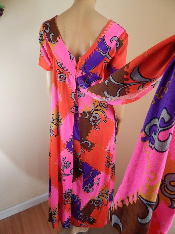 Vintage hawaiian dress, cotton hawaiian dress, ba… - image 3