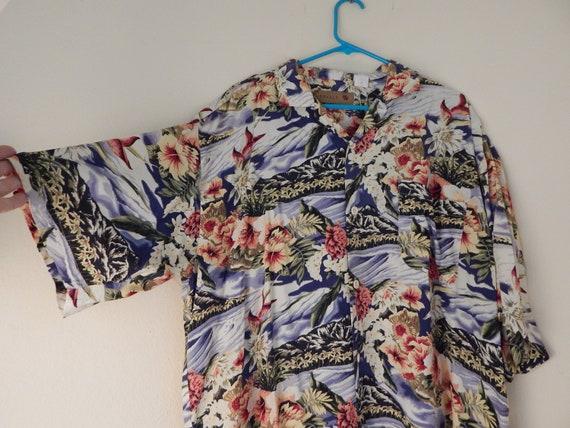 Mens Hawaiian shirt, mens rayon aloha shirt, volc… - image 5