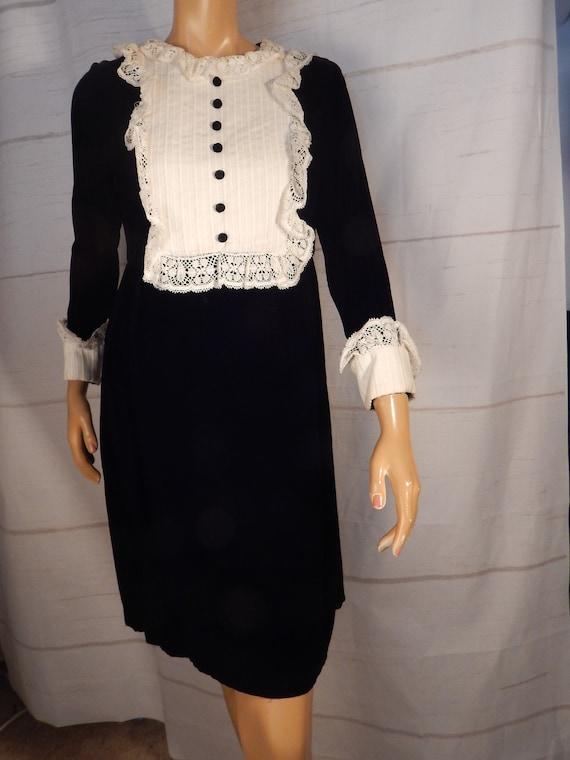 Vintage velvet and lace dress
