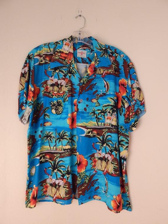 vintage hawaiian shirt, aloha shirt, slinky aloha