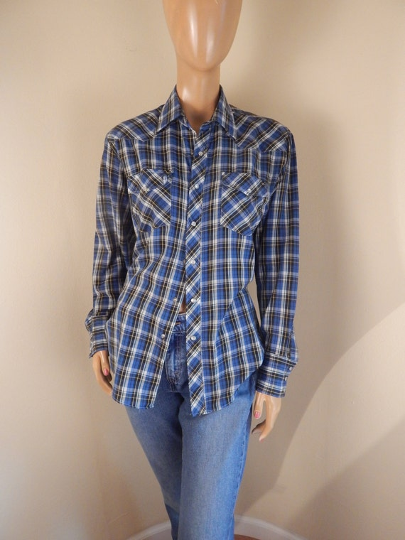 western shirt, plaid shirt, cowboy shirt, pearl sn