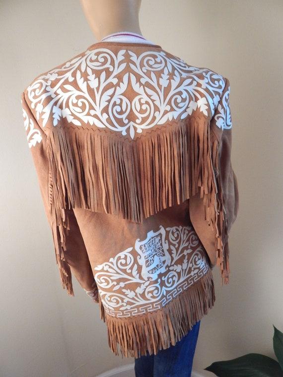 vintage suede fringe jacket, mexico