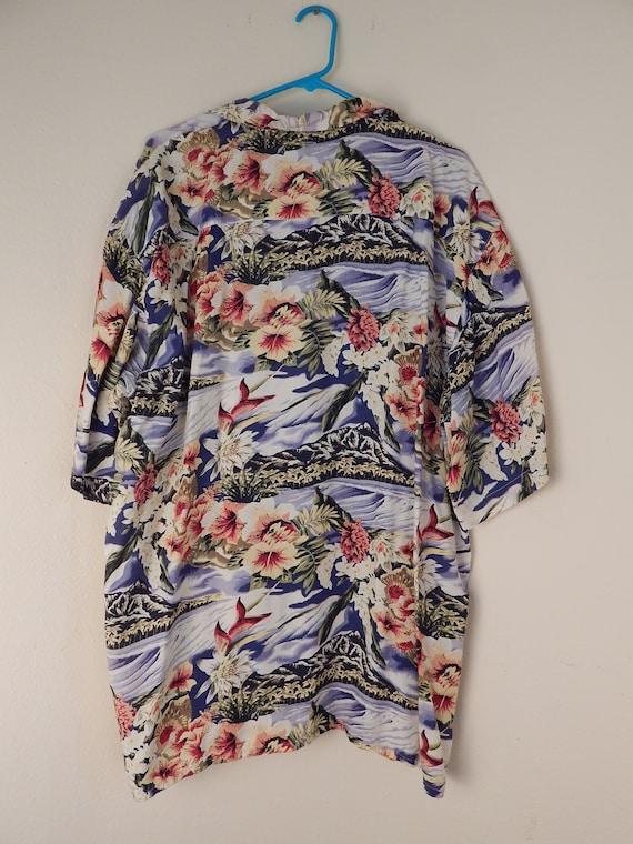 Mens Hawaiian shirt, mens rayon aloha shirt, volc… - image 3