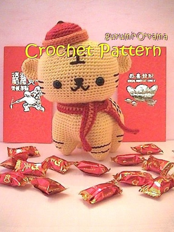 PATTERN: Cuddle-Sized Tiger Amigurumi, Crocheted Tiger Pattern ... | 760x570