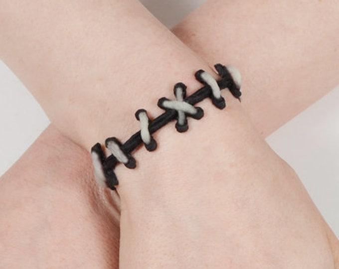 Zombie Bracelet - Frankenstein Gothic - The Original Von Erickson Stitch Bracelet